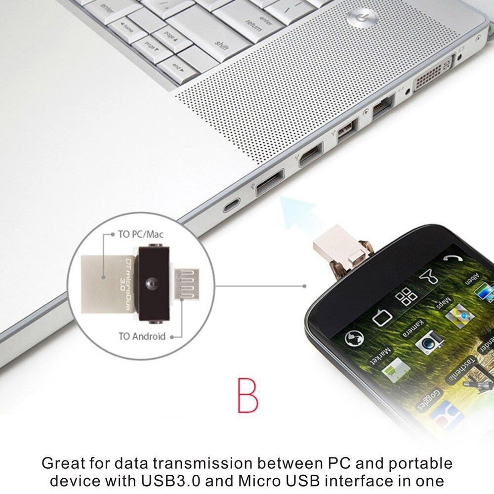 Original Kingston DTDUO3.0 16GB 32GB USB3.0 to Micro USB OTG Flash Pen Drive USB Disk 16 gb 32 gb Pendrive for Phone PC Tablet