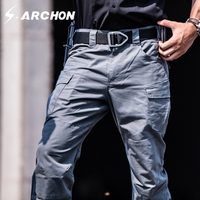 s.archon Lightning series Waterproof Telfon Rip stop Tactical Pants Men SWAT Army Pants New Fabric Military Trousers