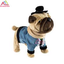 sermoido Electronic SharPei Dog Pet Singing Chinese Walking Music Electronic Pet Robot Dog Toys For Children Gift For Kid B240