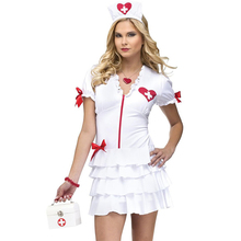Elastic Sexy Nurse Costume Doctor Costumes Women Costumes Role Play Fancy Dress Hot Sexy Nurse Costume W846139(China)