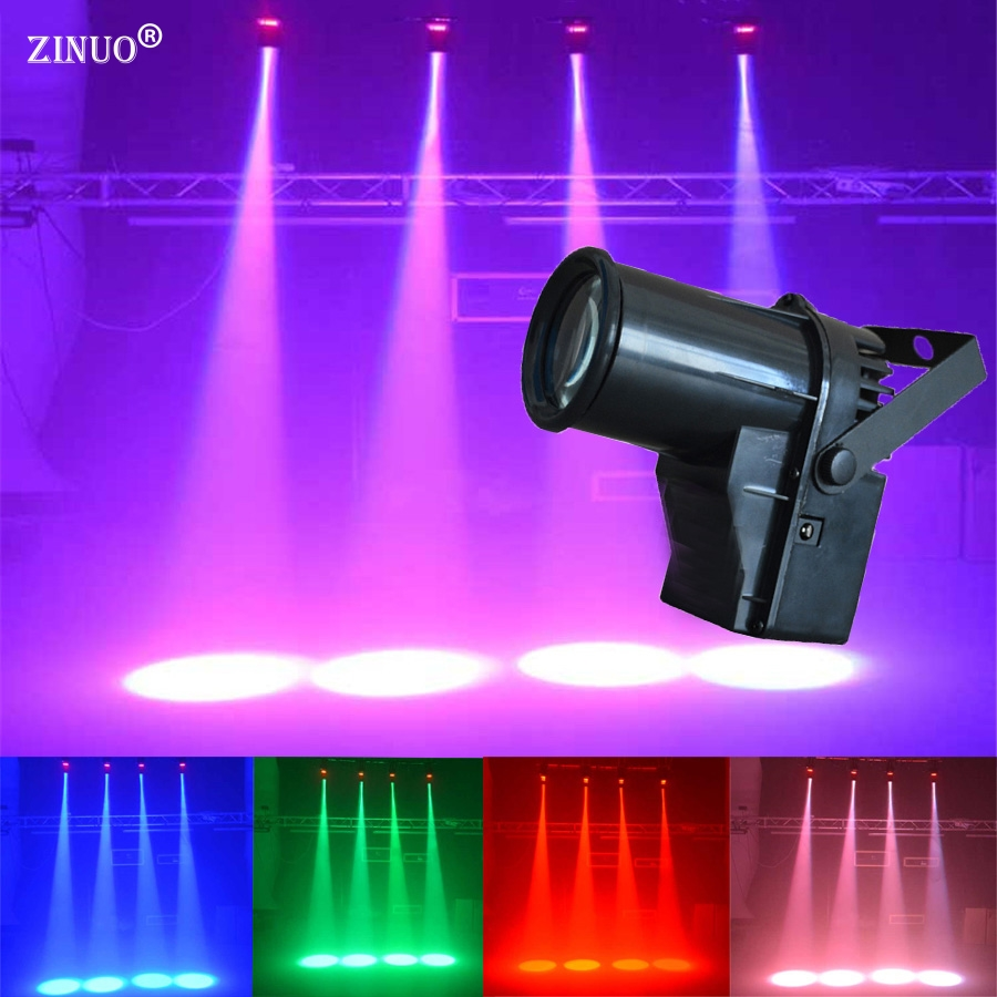 ZINUO AC90-240V DMX 5W LED Beam Pinspot DJ Light Spotlight Super Bright Lamp Mirror Ball DJ Disco Effect Stage Lighting KTV Pub portable led stage light rgbw pinspot beam spotlight dj disco ball stage lamp