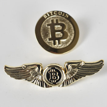 Gold Bitcoin Badge