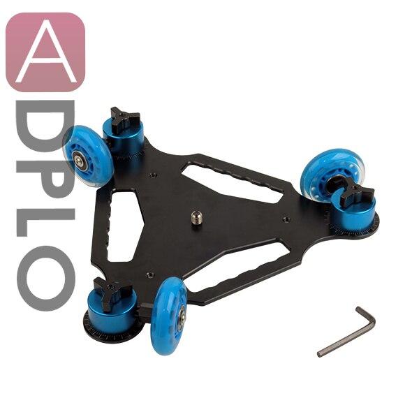 Desktop DSLR Camera Video Photograph Rail Track Slider Table Dolly Car Blue