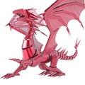Nueva edición limitada wmx metal 3d rompecabezas dragón llama p071-rs diy metal kits de rompecabezas rompecabezas modelo de juguete adulto para la colección