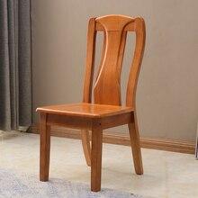 Обеденный стул из твердой древесины, домашний, дубовый, минималистичный, современный, для взрослых, обеденный стол, стул, задний стул, китайский Повседневный стул, сборка, Ресторан