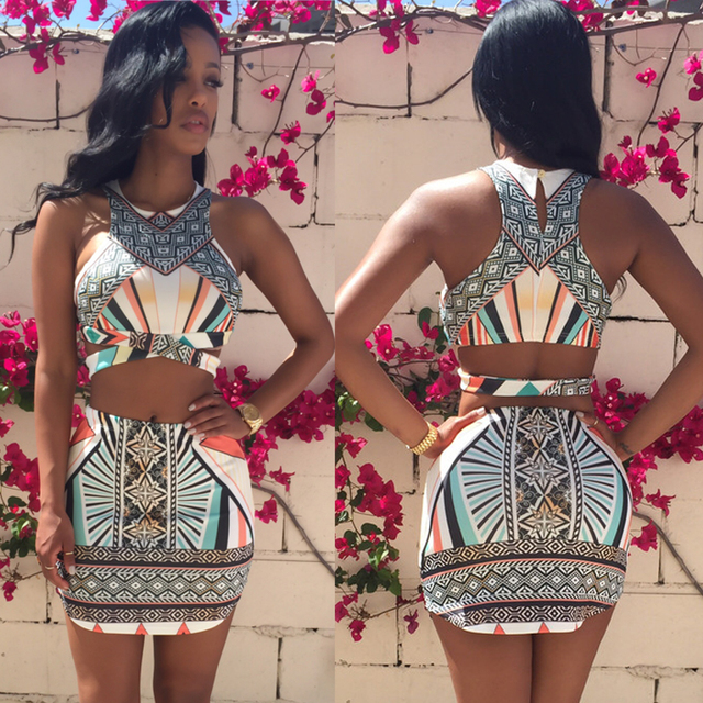 2-Piece Print Bodycon Dress 1