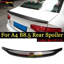 A4 B8.5 Rear Spoiler Wing Caracter Style Carbon Fiber For Audi A4a A4Q Trunk car styling 2013-16