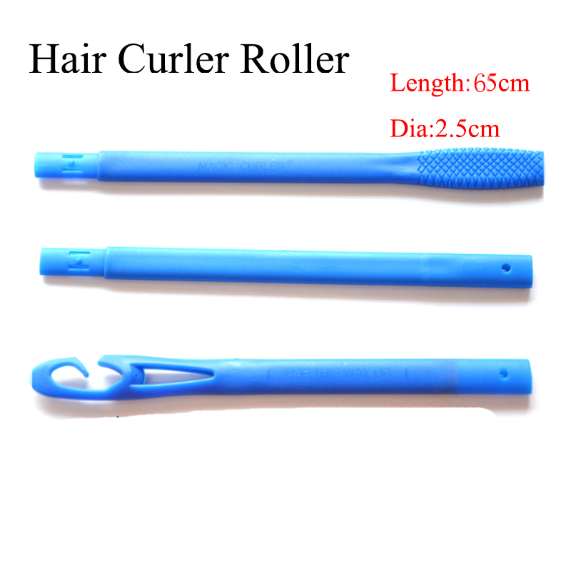 55cm 18Pcs Spiral DIY Magic Plastic Hair Curler Rollers Size Hair Rollers Styling Tools With 3 Stick Hooks Diameter 2 5cm in Hair Rollers from Beauty Health