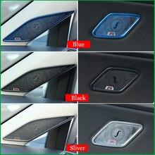Para Volkswagen Golf 7 MK7 MK7.5 2014-2018 Anel de chifre de UM Pilar Da Porta Interior Speaker Áudio Adesivo Da Tampa de Moldagem estilo Do Carro guarnição