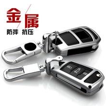 Zinc Alloy car key case shell cover for Citroen C4L CACTUS C5 C3 C6 C8 Picasso Xsara Peugeot 3008 308 RCZ 508 408 2008 Fold key