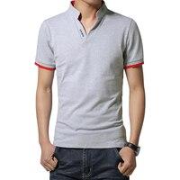 Marka Nowy Mężczyzna T Koszula Slim Fit V Neck T-shirt Mężczyzn Koszula Z krótkim Rękawem Dorywczo tshirt Topy Tees Mens Odzież Rozmiar M-5XL