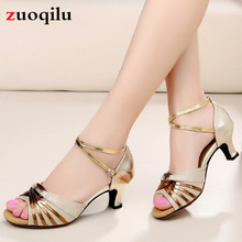 Gold Heels Wedding Shoes Ankle Strap Party Open Toe Woman