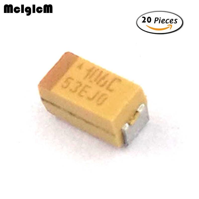Condensador de tántalio de estado 20PCS 10UF 16V SMD 3216 Nuevo