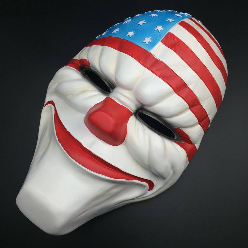 Juillet 4ème Visage Masque Résine Hold-Up Dallas/Loup/Chaînes/Hoxton cosplay halloween horreur mascarade de clown cosplay Carnaval Costume hommes