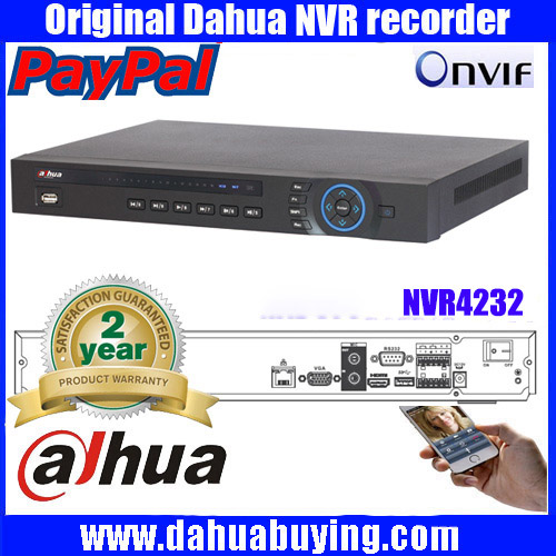 Dahua 32CH 5MP Dual core NVR4232 2xSATA HDD Ports ONVIF P2P Motion Detection HDMI VGA CCTV
