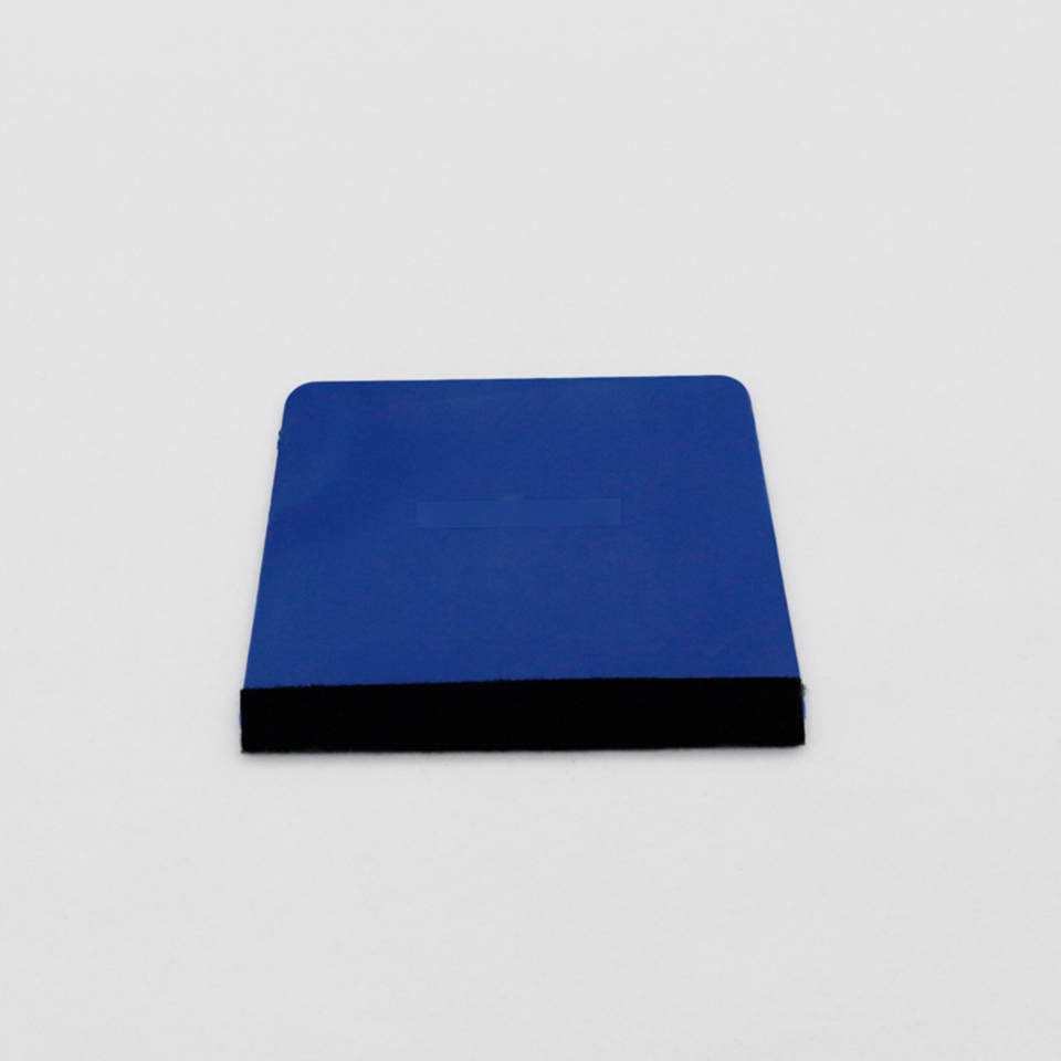Image 2 - Blue Trapezium Squeegee Sign Making,Vehicle Wrap Squeegee with Felt And Tinting Application Tool MO 18BF-in Car Stickers from Automobiles & Motorcycles