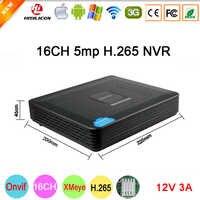 5mp/4mp/3mp/2mp/1mp Ip-kamera Kunststoff Schwarz 12V3A Hi3536D XMeye H.265 5mp 16CH 16 kanal Onvif Mini CCTV NVR Kostenloser Versand