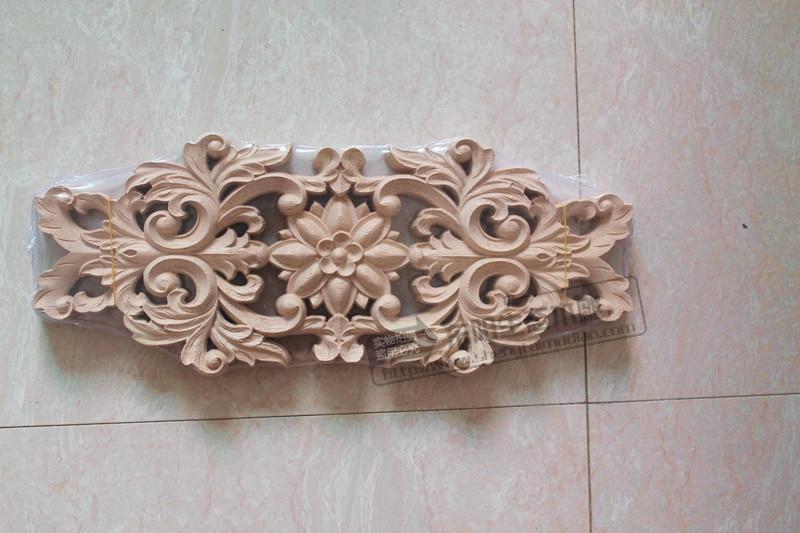 Cm wood carved corner onlay applique furniture door decor diy