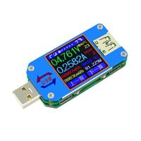 USB 2.0 Type C Voltmeter Ammeter LCD Color Display Voltage Current Meter Battery Charge Measure Cable Resistance Tester