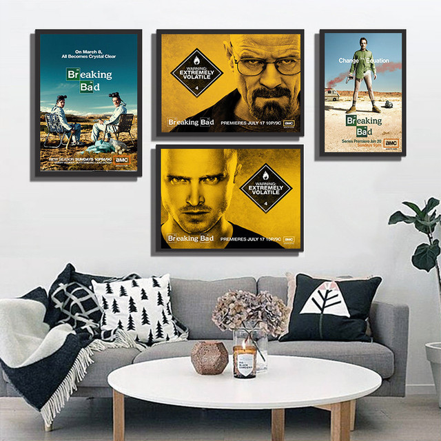 Breaking Bad TV Series Wall Pictures For Living Room Art Print Painting Poster Home Decoration Cafe