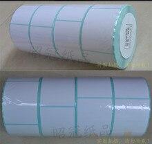 Оптовая 1 рулон Тепловой бумажную наклейку 40×100 мм 250 листов водонепроницаемый печать штрих-кодов бумаги бумаги штрих-код этикетки бумага для печати