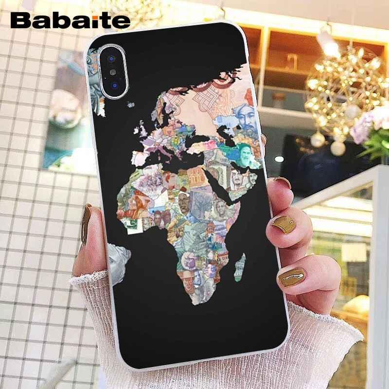 Babaite viagens no mapa do mundo plano plano caso telefone para iphone 11 pro 11pro max 8 7 6 s plus x xs max 5 5S se xr