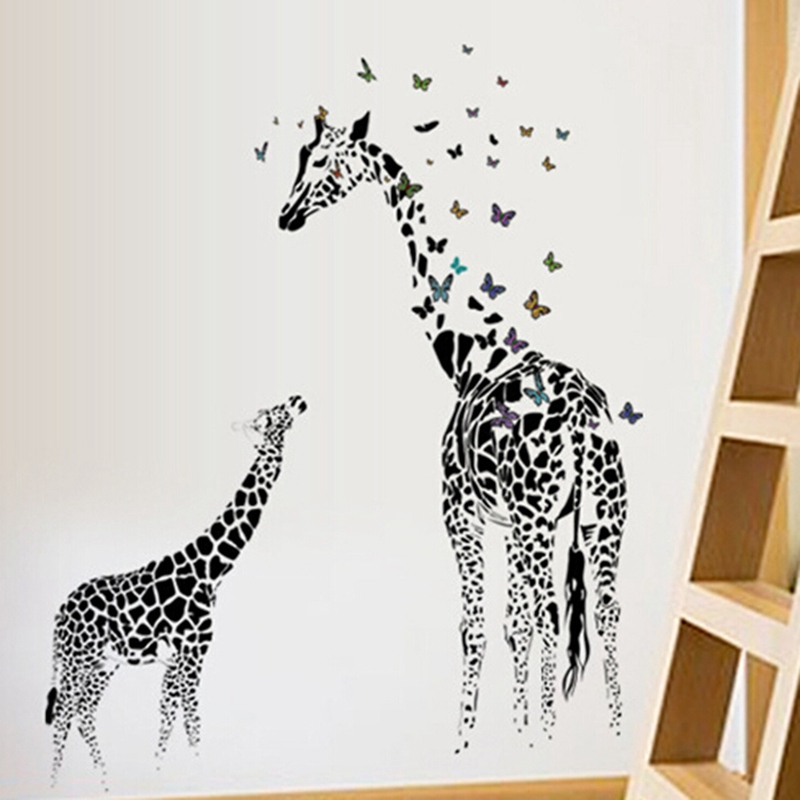 aliexpress : buy 60*90cm giraffe wall sticker removable vinyl