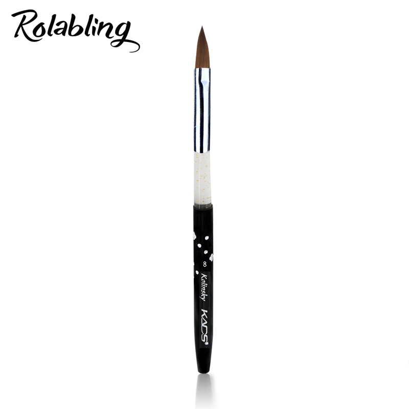 Rolabling 8# black Kolinsky Sable Brush Professional nail brush for kolinsky acrylic nail brush kolinsky nail brush designRolabling 8# black Kolinsky Sable Brush Professional nail brush for kolinsky acrylic nail brush kolinsky nail brush design