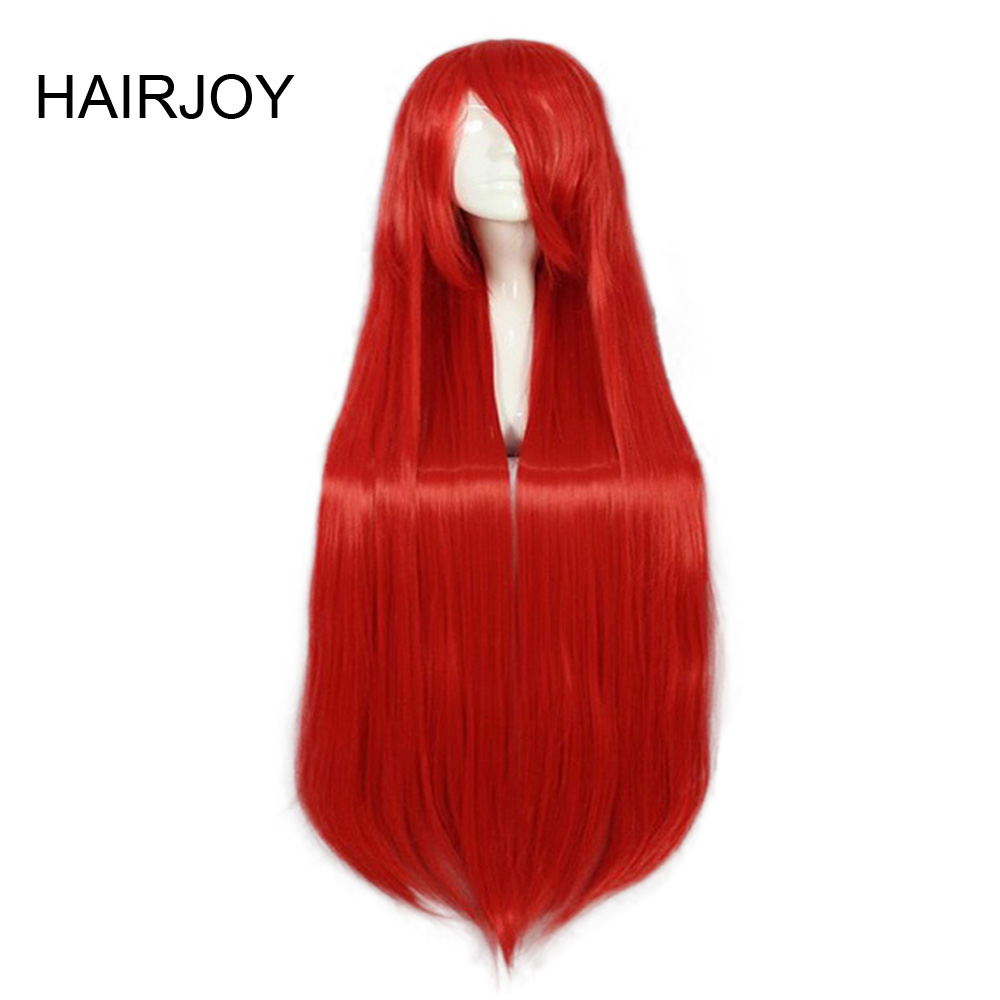 HAIRJOY Synthetic Hair Cosplay Wig 100cm Long Straight  Party Costume Wigs  22 Colors Available