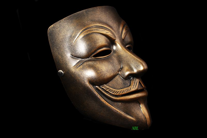 high quality halloween masquerade scary v for vendetta full face resin masks house party cosplay