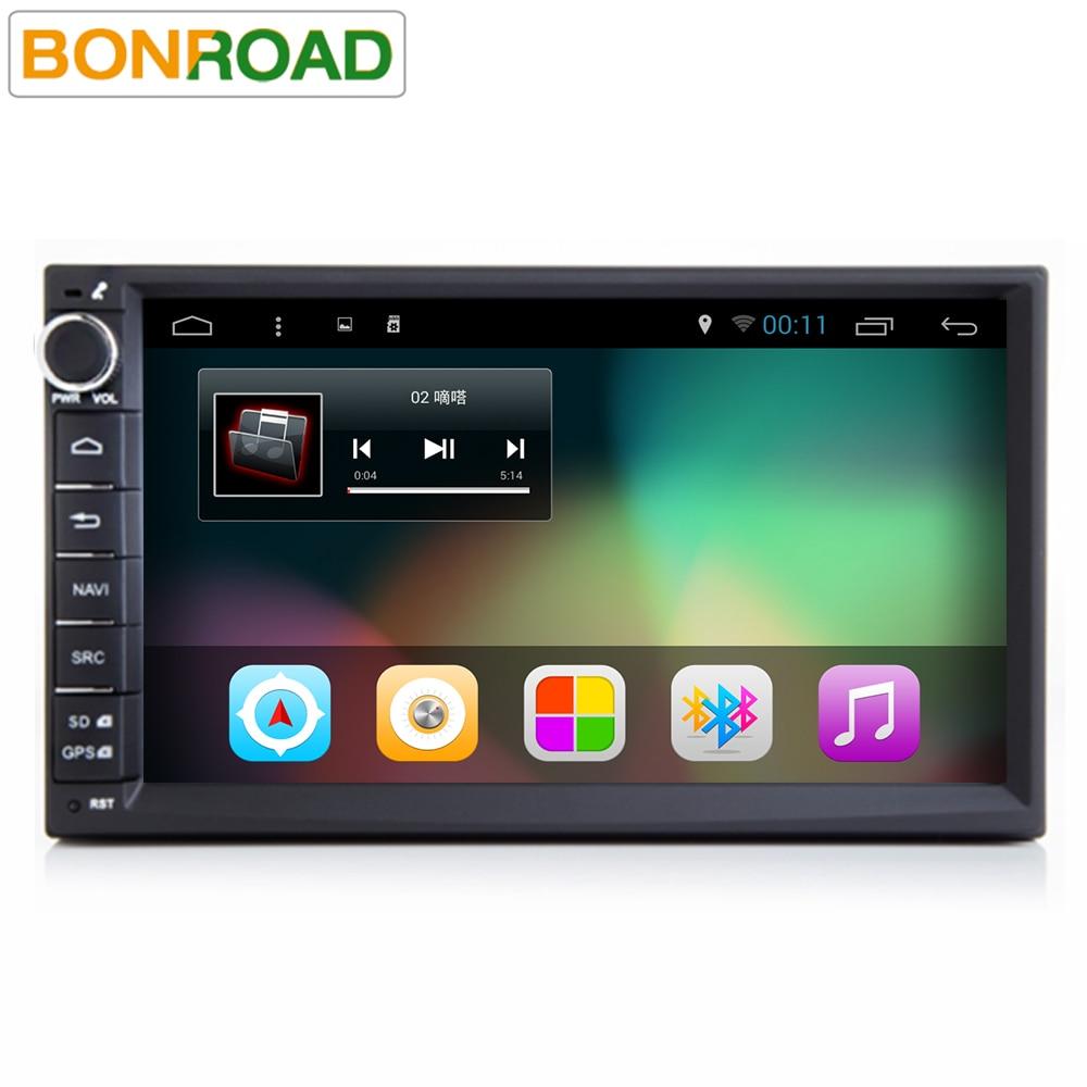 imágenes para Android 6.0 Radio de Coche 1024*600 Quad Core 1G o 2G RAM 16G ROM 2Din Universal GPS BT Radio Estéreo Reproductor de Audio 4G Wifi MirrorLink