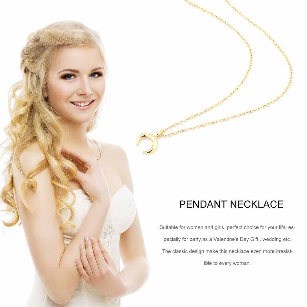 Bijou breloque de mode cornes en forme d'alliage clavicule pendentif court Chocker collier femmes cadeau
