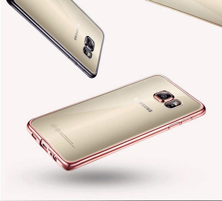 Coque dla samsung galaxy s6 edge s6 s7 s7 edge case wyczyść przezroczysty złocenie miękka tpu back cover dla samsung s6 edge case 4