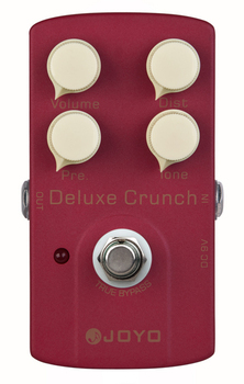 JOYO JF-39 Deluxe Crunch , Guitar AMP Effect Pedal True Bypass Distortion Pedal with High Gain