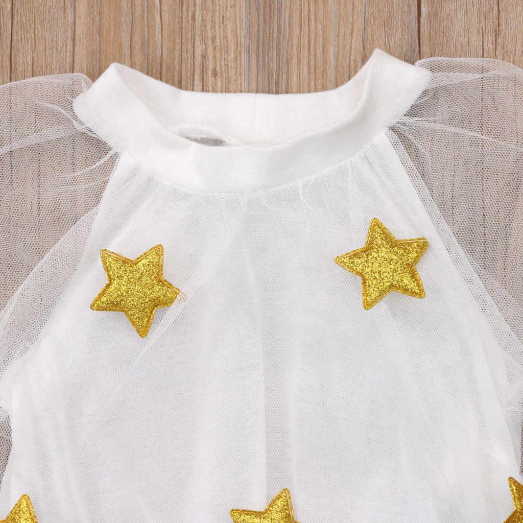 2019 Bady летнее платье для подростков праздничная одежда для девочек, короткий рукав, платье принцессы со звездами вечерние платье с фатиновой юбкой праздничное платье для детей # D1