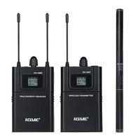 Camera không dây Microphone Hệ Thống UHF Không Dây Mic Thiết Lập Microphone cho Máy Ảnh DSLR Ngoài Trời Ghi Âm Interview Video Chụp