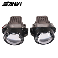 Sanvi 2 шт. X1 35 Вт 5000 К Hi Low Beam авто светодиодный светодиодные фары 12 В светодиодный би светодиодный проектор Объектив фара для автомобиля свет м