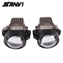 2017 Free Shipping SANVI LED Projector Lens Headlight With Ballast Angel Eye Mask 35W 5500K Car Styling Auto Lighting Parts free shipping vland factory top value car auto parts for mitsubishis lancer headlight xenon projector headlamp