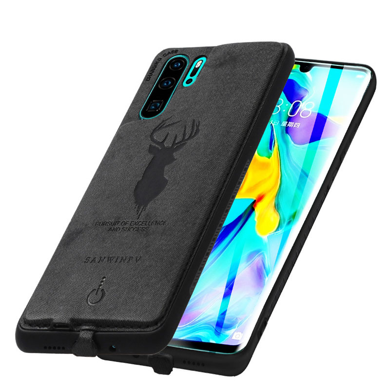 Battery Charger Case For Huawei P20 P30 Pro Mate 20 Pro Ultra-thin Leather Charging Back Cover External Power Bank 3600mah