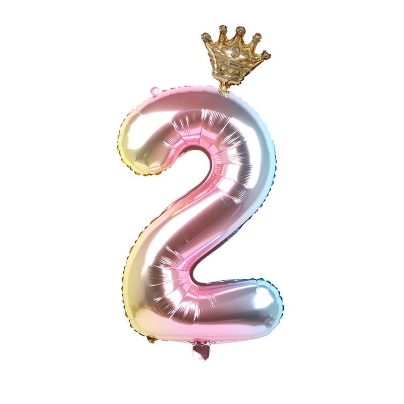 1set 30inch Foil Crown Balloons For Birthday And Baby Shower Decor Supplies 2