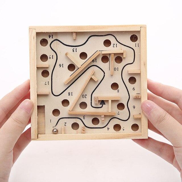 Juego de mesa de laberinto de madera, juego de mesa de laberinto en 3D