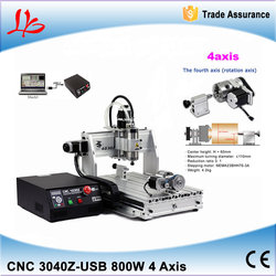 110/220V 3D CNC router 3040 with USB Interface, 800W water cooled metal carving machine