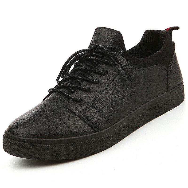 Nuevo 2017 Hombres Otoño Zapatos Casuales Diseñador Solid Cuero de LA PU los hom