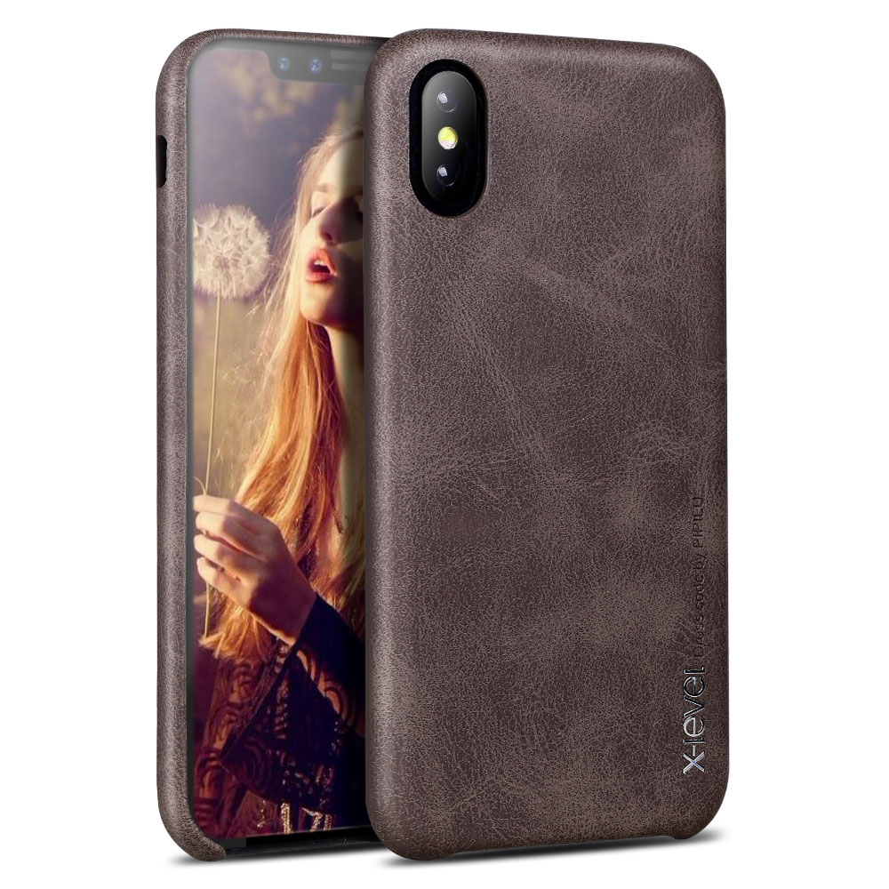 X-Level Роскошный кожаный чехол для iPhone XS/XS Max/XR оригинальный ультра тонкий iPhone X задняя крышка бизнес винтажный Чехол для Apple 10