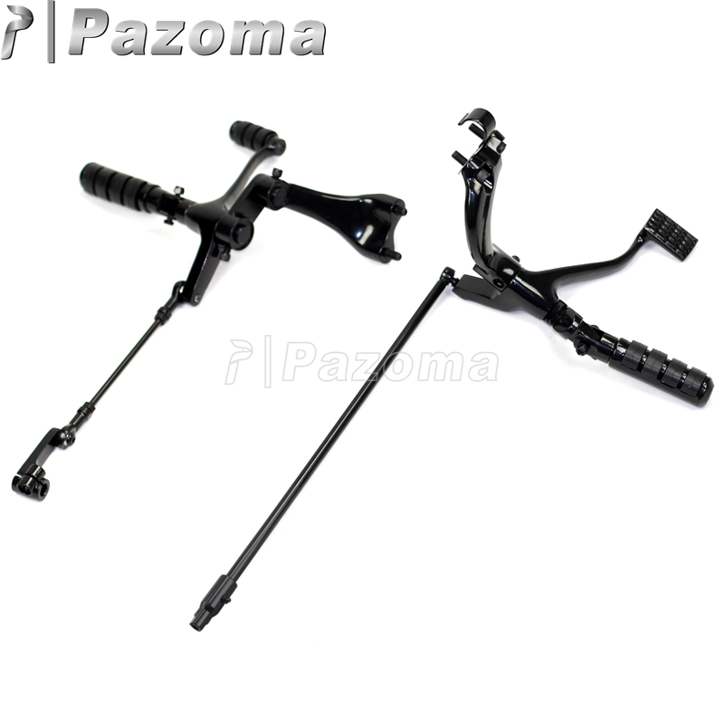 PAZOMA Motorcycle Forward Control Kit Pegs Levers Linkage