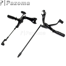 PAZOMA Motorcycle Forward Control Kit Pegs Levers Linkage For Sportster Custom XL1200C 2004-2006 2009-2013 (EFI) - XL 1200C 883C