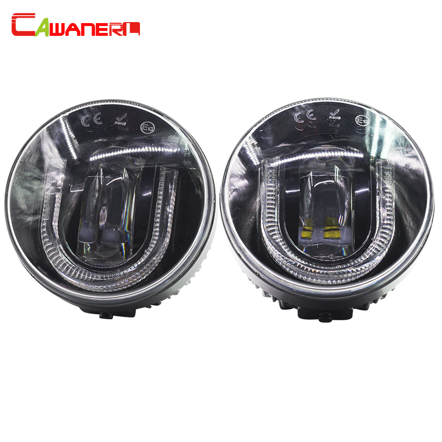 Cawanerl For Nissan Juke Versa X-Trail Car Accessories LED Fog Bulb DRL Daytime Running Lamp 2 Pieces