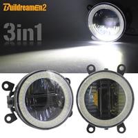 3 IN 1 Fog Light Daytime Running Light Angel Eye Car Projector LED Lens DRL For Ford Focus Transit Ranger Fusion C Max Explorer