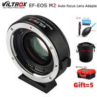 Viltrox For EF EOS M2 AF Auto focus EXIF 0.71X Reduce Speed Booster Lens Adapter Turbo for Canon EF lens to EOS M5 M6 M50 Camera
