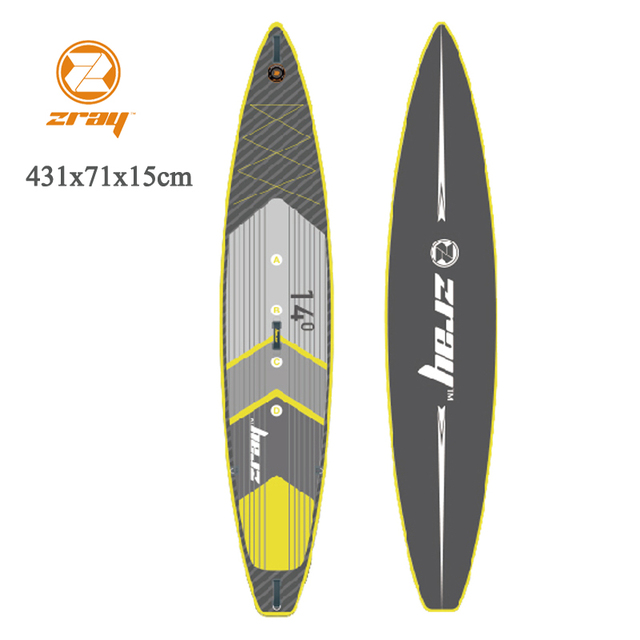 Tabla de surf 431x71x15 cm 14ft JILONG ZRAY R2 inflable sup carrera rápido Junta stand up paddle tabla de surf velocidad deporte bote bodyboard